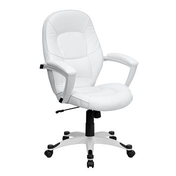 Mid-Back Leather Executive Swivel Office Chair