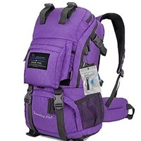 Oxking Outdoor Hiking Climbing Backpack Daypacks Waterproof Mountaineering Bag M5811 Shoulder Bag 35-45L Unisex High-capacity Travel Bag Free Gift + Nail Clippers Multi Colors