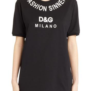 Dolce&Gabbana Fashion Sinner Graphic Tee | Nordstrom