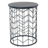 Modern Blue Metal Accent Table