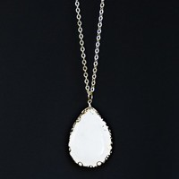 Goes With Anything Necklace-White - NEW ARRIVALS