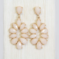 Pale Peach Dahlia Earrings