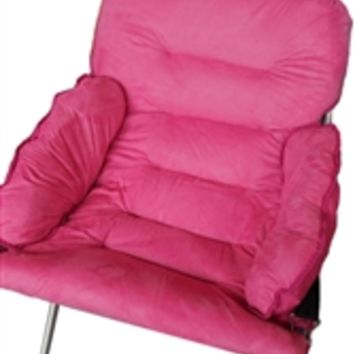 Must Have College Club Dorm Chair Seating Options - Plush & Extra Tall - Pink