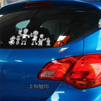 28x12cm Funny Family Car Stickers Car Window Whole Body Tail Decal Bumpers Vinyl Waterproof Drop Shipping