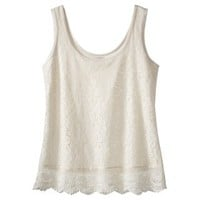 Mossimo Supply Co. Junior's Lace Tank - Assorted Colors