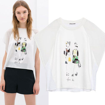 New Hot Fashion Womens Casual Blouse Short Foever21 Like Sleeve Shirt T shirt Summer Blouse Tops = 4721947780