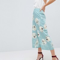 ASOS Soft Tailored Culottes in Floral Print at asos.com