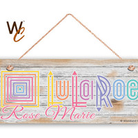 "LuLaRoe Sign, Company Sign, Personalized 6""x14"" Sign, Custom Name Sign, Promote Your Business or Boutique, Rustic Style 3, Made To Order"