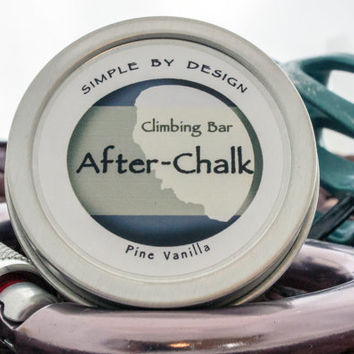 Coming Soon! After Chalk Climbing Bar Pine Vanilla 1.8 oz  Solid Lotion Bar perfect gift for climbers climbing balm No Preservatives