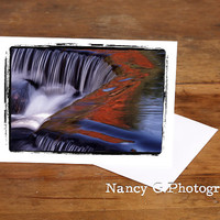 """Greeting Card, Waterfall Card, Nature Card, Fine Art, 5""""x7"""", Card, Greeting Cards, Paper Goods, Note Cards, Blank Card, Stationary"""