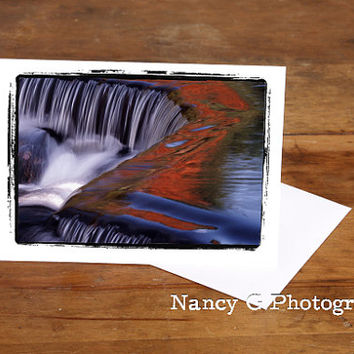 "Greeting Card, Waterfall Card, Nature Card, Fine Art, 5""x7"", Card, Greeting Cards, Paper Goods, Note Cards, Blank Card, Stationary"