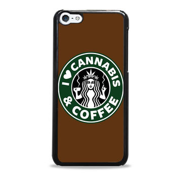 I Love Cannabis and Coffe Starbuck Parody Iphone 5C Cases
