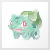 POKEMON : BULBASAUR Art Print by Marco Lilliu