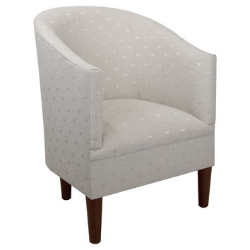 Ashlee Tub Chair, Light Gray, Accent & Occasional Chairs