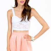 Irene Eyelet Crop Top $19