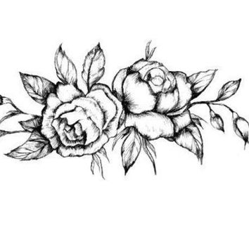 CREYON Day First Black Roses Temporary Tattoo