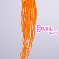 Orange U-Tip Synthetic Dreadlocks (10 pieces)
