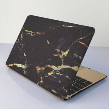 black gold marble macbook air 11 13 retina 13 15 pro 15 12 mac 12 case cover novo rubberized hard shell gift  number 1