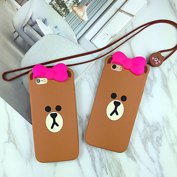 Unique Cute Bear Case UNBreak Cover for iPhone 5se 5s 6 6s Plus Gift 430