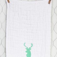 Seafoam Deer Burp Cloth