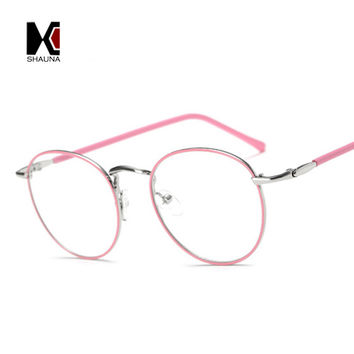 Vintage Colorful Metal Women Round Glasses Frame Fashion Men Original Clear Reading Glasses