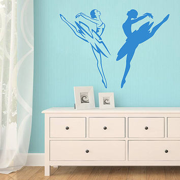 kik1289 Wall Decal Sticker Ballet dancer dancing pointe bedroom living room children