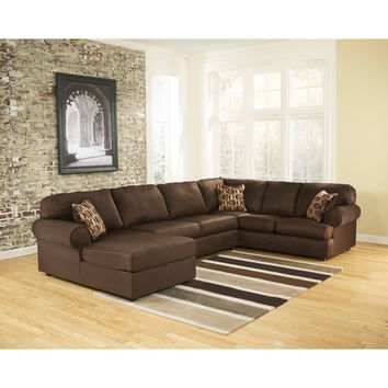 Cowan Sectional in Cafe Fabric