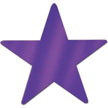 Foil Star Cutout - Purple #LP048