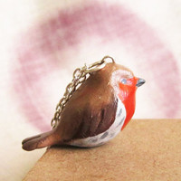 Robin necklace, Bird necklace , Totem Jewelry With a Message