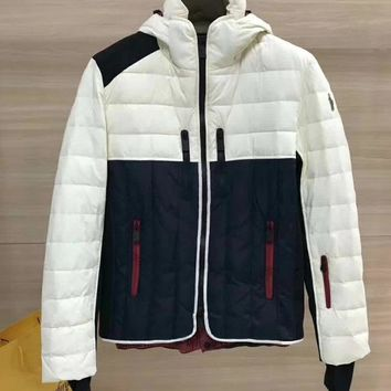 Moncler Women Men  Fashion Multicolor Embroidery Hooded Cardigan Jacket Coat