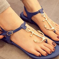 Blue Pattern Sandals from BAIANSY