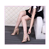 GLADIATOR LACE-UP OPEN TOE BOOTIE
