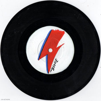"David Bowie Logo  7"" Painted Vinyl"