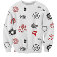 Supernatural Symbols Pull Over Sweater