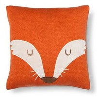 "Fox Square Throw Pillow (14""X14"") Orange - Pillowfort™ : Target"