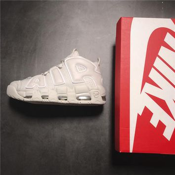 Nike Air More Uptempo AIR Cream White Basketball Shoe 36--45