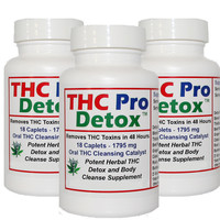 Detox Supplement - THC Pro Detox - Rapid 2 Days to Cleanse Formula - Three Bottles