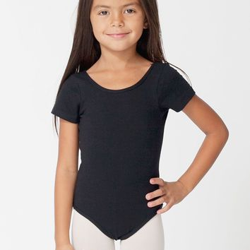 rsa8173 - Kids Cotton Spandex Jersey Short Sleeve Leotard