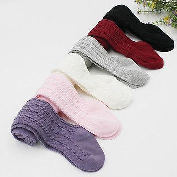 High Quality Fashion Baby Girls Knee High Cotton Long Warm Stocking Kids Toddlers Tights Leg Warmer Stockings