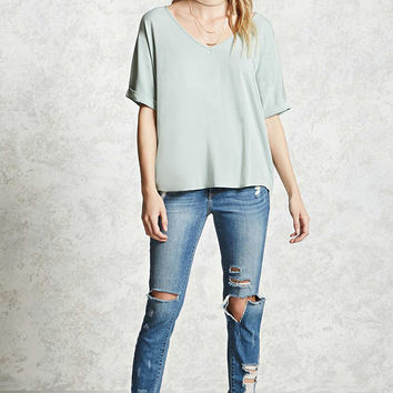 Contemporary V-Neck Top