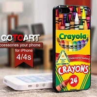 Melting Crayola Crayons design for iPhone 4 or 4s Case