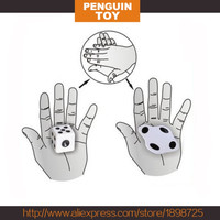 The New Easy Magic Close-up Dice Magic Trick Beat Flat Dice Easy To Learn Mini Magic Props Toys fun Toy Gift Favors Supplies
