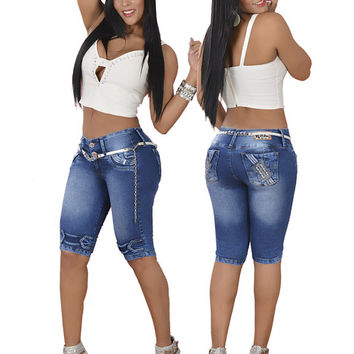 Bum Lifting Cropped Jeans