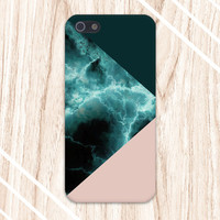Turquoise Marble x Dark Green x Nude Design Case for iPhone 6 6 Plus iPhone 5 5s 5c iPhone 4 4s Samsung Galaxy s5 s4 & s3 and Note 4 3 2