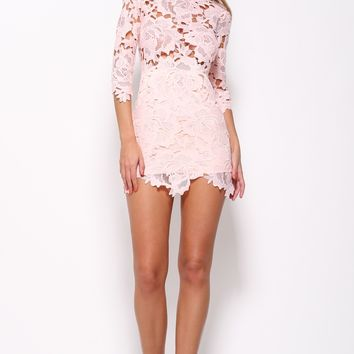 Light Me Up Dress Blush