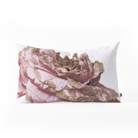 Deb Haugen pink love Oblong Throw Pillow