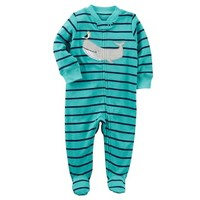 Baby Boy Carter's Whale & Pelican Striped Sleep & Play | null