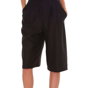 Eva's Culottes Shorts - Black