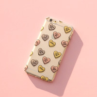"""Clear Plastic Case Cover for iPhone 6 (4.7"""") Henna Candy Hearts"""