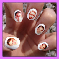 Ryan Gosling Nail Decals Transfer Nail Stickers by SokayDesigns